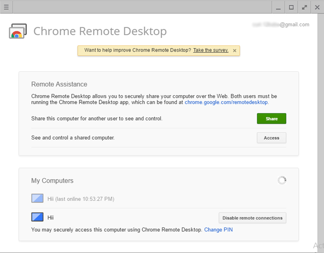 Add On Chrome Remote Desktop