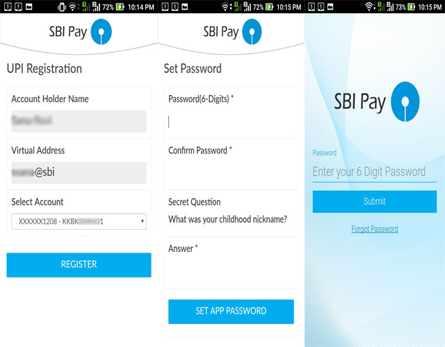 SBI Pay Registration