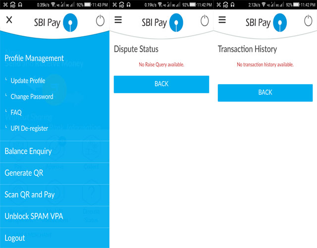 SBI Pay Profile management